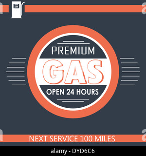 Premium Gas Banner - Stock Photo
