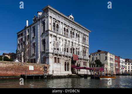 Venice Casino at Ca' Vendramin Calergi, on Grand Canal, Venice, Italy; also where Richard Wagner died & home of - Stock Photo