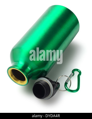 Empty Water Container Lying On White Background - Stock Photo