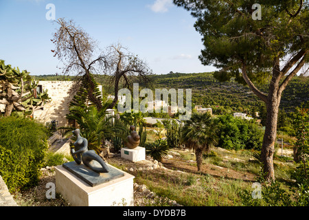 The artists village of Ein Hod, Carmel mountains, Israel - Stock Photo