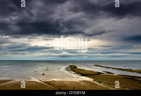 View of Robin Hoods Bay. - Stock Photo