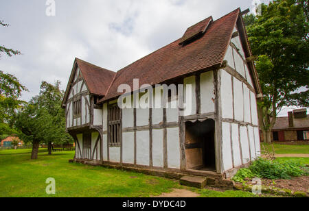 16th Century Merchant's House at Avoncroft Museum of Buildings. - Stock Photo
