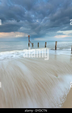 A storm passes over Horsey beach on the Norfolk coast.