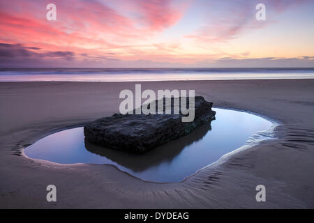 Sunset at Southerndown Beach. - Stock Photo
