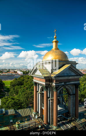 Views over Saint Petersburg from the top of Saint Isaac's Cathedral. - Stock Photo