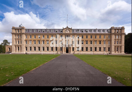 Exterior facade of the former Army Staff College at the Royal Military Academy in Sandhurst. - Stock Photo