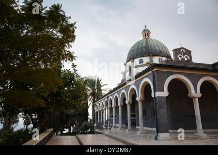 Fransiscan Monastery at the Mount of the Beatitudes, Tabgha, Sea of Galilee, Israel. - Stock Photo