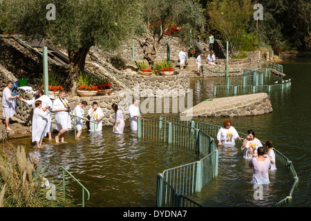 The Yardenit Baptismal Site by the Jordan River Near the Sea of Galilee, Israel. - Stock Photo