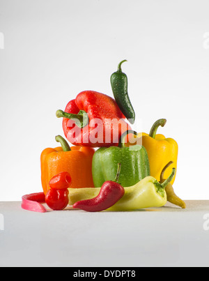 Pile Of assorted Peppers - Stock Photo