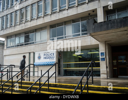 South Wales Police headquarters Cardiff Wales UK - Stock Photo