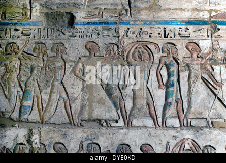 Temple of Ramses III (1198-1167 b.C. – XX° Dyn.) at Medinet Habu: the  Sea People. - Stock Photo