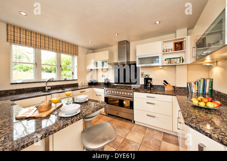 A Kitchen With A Granite Work Surface Uk Stock Photo 210315877 Alamy