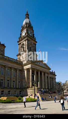 The Town Hall, Victoria Square, Bolton, Greater Manchester, England, UK - Stock Photo