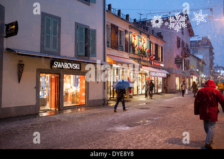 shopping street in chamonix french alps in summer stock photo royalty free image 78043234 alamy. Black Bedroom Furniture Sets. Home Design Ideas