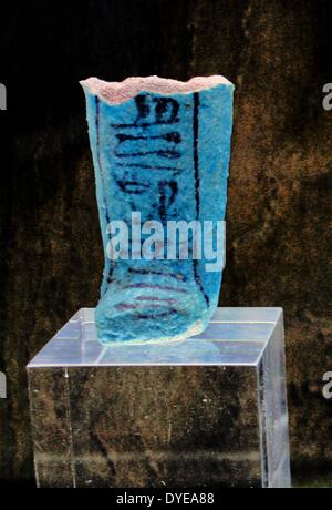 Object native to Egypt created from the semi- precious stone Lapis lazuli. Barcelona - Stock Photo