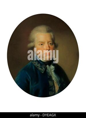 Portrait by Johann Tischbein 1750-1812 of Stadtholder Prince William V of Holland. William V, Prince of Orange-Nassau - Stock Photo