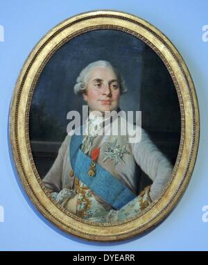 Portrait of Louis XVI, King of France. Workshop of Joseph Siffred Duplessis (1725-1802), oil on canvas, c. 1777 - Stock Photo