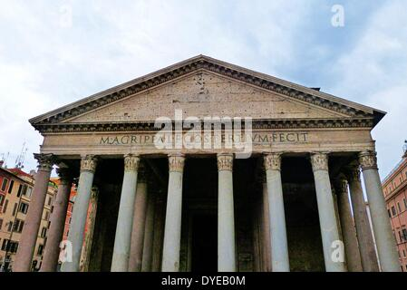 Scenes from the Pantheon (Rome). An ancient Roman temple dedicated to the gods of Olympus - Stock Photo