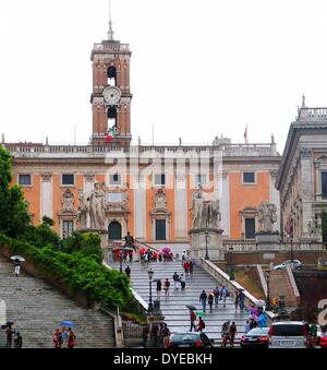 The Spanish Steps. A set of steps in Rome located between the Plaza di Spagna and Piazza Trinità dei Monti. It is - Stock Photo