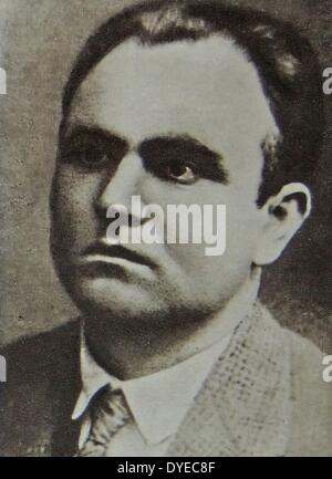 Photograph of Vassil Kolarov (1877 - 1950). A member of the General Military Revolutionary Committee. Dated 1918 - Stock Photo