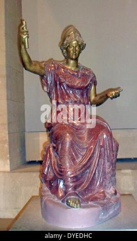 Minerva the Roman Goddess 2nd Century B.C. - Stock Photo