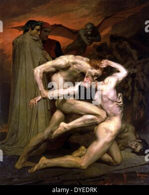 Dante And Virgil In Hell 1850 A.D. - Stock Photo