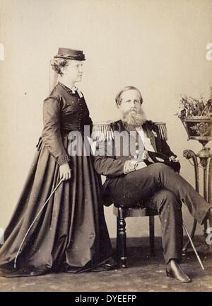 Princess Isabel and Dom Pedro II, Emperor of Brazil 1870 A.D. - Stock Photo