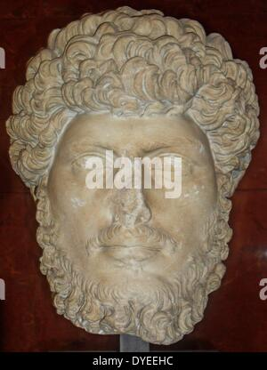 Marble Bust of Emperor Lucius Verus 161 A.D. - Stock Photo