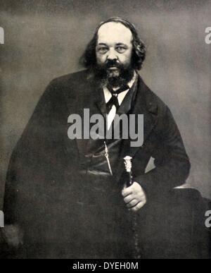 Mikhail Alexandrovich Bakunin (1814-1876) - Stock Photo