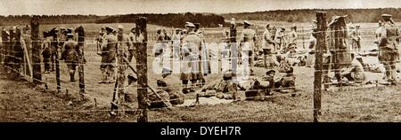 World War 1 - An enclosure german reserve officers after their capture as prisoners of war 1915 - Stock Photo