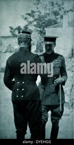 General Sir Ian Standish Monteith Hamilton meeting the French General Henri Gouraud - Stock Photo