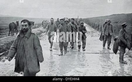 Group of german soldiers captured as prisoners of war - Stock Photo
