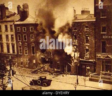 Destruction , during The Easter Rising also known as the Easter Rebellion, was an insurrection staged in Ireland - Stock Photo