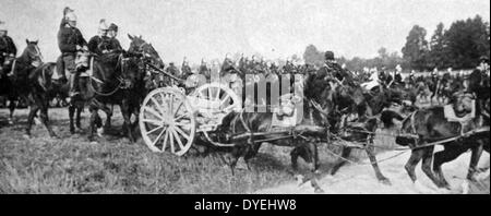French cavalry during the preparations for battle - Stock Photo