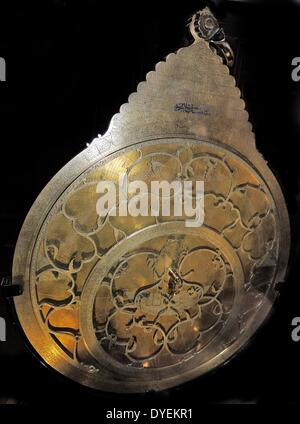 Brass astrolabe with silver inlay 171 A.D. The data provided in the gazeteer would have been used by an  educated - Stock Photo