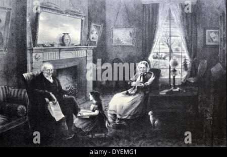 Currier & Ives Illustration 19th Century. The Four Seasons of Life : Old Age, 'The season of Rest' - Stock Photo