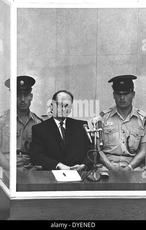 Otto Adolf Eichmann 19 March 1906 – 31 May 1962. German Nazi on trial for war crimes and hanged in 1962 - Stock Photo
