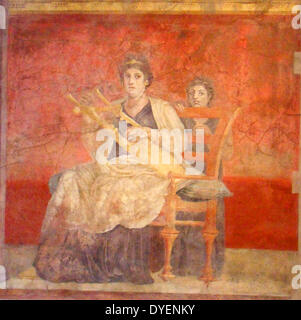 Wall painting from Room H of the Villa of Fannius Synistor at Boscoreale. ca. 50–40 B.C. - Stock Photo