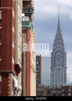 The Chrysler Building is an Art Deco style skyscraper in New York City, located on the east side of Manhattan. completed - Stock Photo