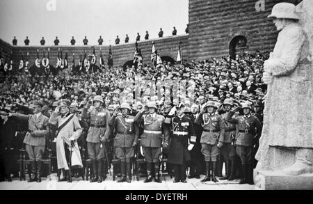 Funeral of President Paul Von Hindenburg (1847 – 2 August 1934) Prussian-German field marshal, statesman, and politician. - Stock Photo