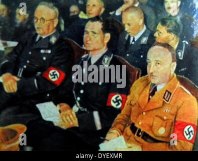 Robert Ley (German (right) 1890 – 25 October 1945) Nazi politician and head of the German Labour Front from 1933 - Stock Photo