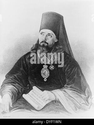 Innokentii the Apostle of Alaska Sainted Innocent (Innokentii), Metropolitan of Moscow and Kolomensk (26 August - Stock Photo