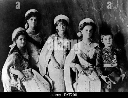 Photograph of the Romanov Children from the Russian Royal family. - Stock Photo