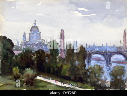 To St. Paul's from my window by Joseph Pennell 1857-1926. Dated between 1890 and 1923 - Stock Photo