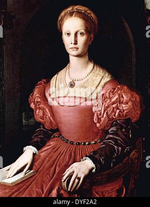 The Portrait of Lucrezia Panciatichi 1545. by Agnolo di Cosimo Bronzino (1503 – 1572), Agnolo Bronzino was an Italian - Stock Photo