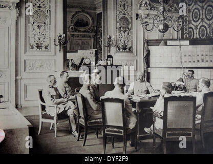 Meeting of senior officers of French General Philippe Petain. - Stock Photo