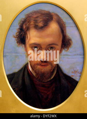 Portrait of Dante Gabriel Rossetti - Stock Photo