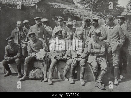 German prisoners of war after the First Battle of Ypres, also called the First Battle of Flanders November 1914. - Stock Photo