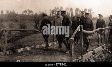 Marshall Joffre and British Field Marshal Sir Henry Hughes Wilson - Stock Photo