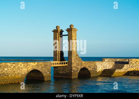 Puente de Las Bolas bridge, Arrecife, Lanzarote, Canary Islands, Spain, Europe - Stock Photo